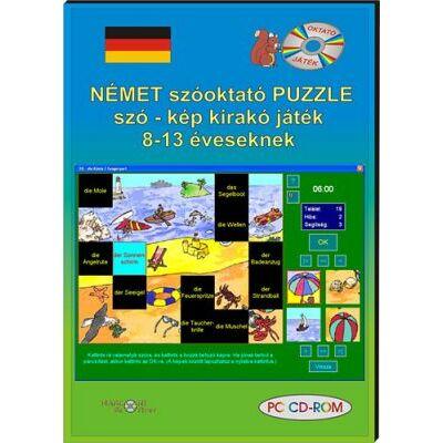 Német szóoktató puzzle szó–kép kirakó játék 8-13 éveseknek (CD-ROM)