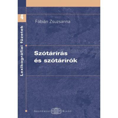 Szótárírás és szótárírók