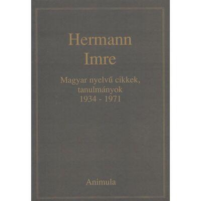 Magyar nyelvű cikkek, tanulmányok 1934-1971