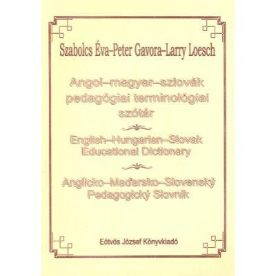 Angol-magyar-szlovák pedagógiai terminológiai szótár