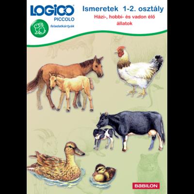 Ismeretek 1-2. osztály. Házi-, hobbi- és vadon élő állatok (Logico Piccolo)